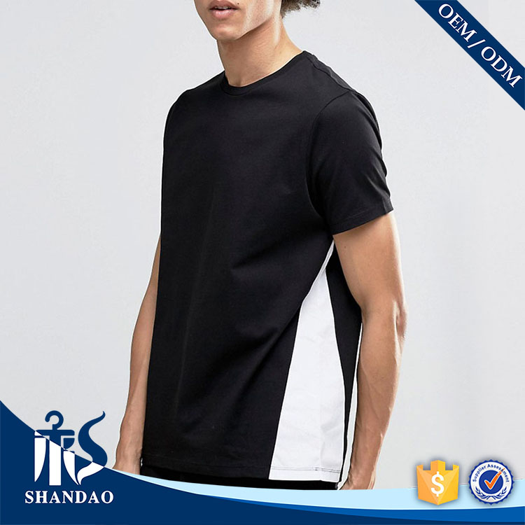 Guangzhou shandao factory o-neck short sleeve180g 95%cotton 5%spandex mens fashonable buying designer clothes from china