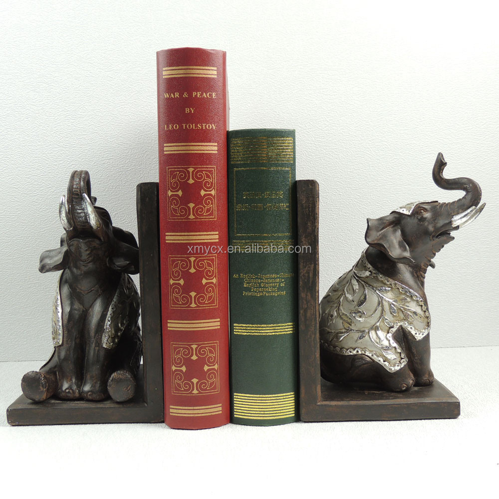 Beautiful resin book stand elephant book stand