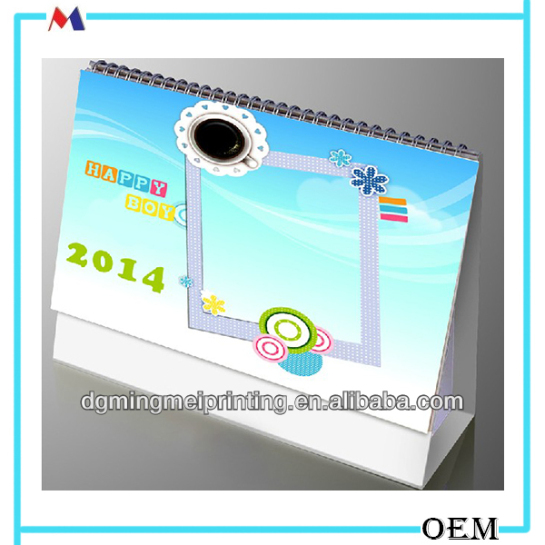 DIY free desktop calendar/ cheap 2014 wholesale calendar Dongguan