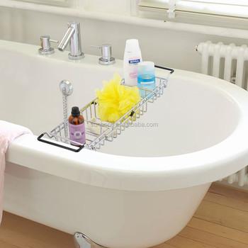 Expandable Metal Bath Caddy Holder Adjustable Bathtub Caddy - Buy ...