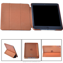 Three-folding high quality stand leather case for ipad mini 4