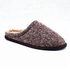 Custom Design Winter Indoor Slippers Mens Flat Indoor Slippers