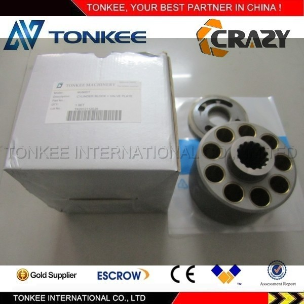 TONKEE brand KAWASAKI NV90DT cylinder block & valve plate NV90DT for hydraulic main pump inner parts