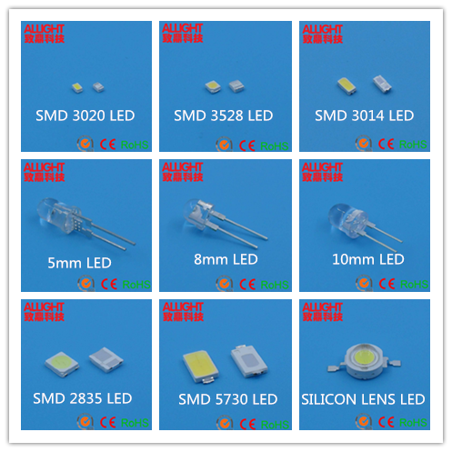 Lambertian Reflow Soldering Chip 100-130LM High Power 1W LED