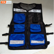 Blue Cheap Safety Reflective Fishing Vest