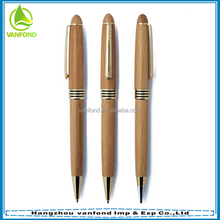 Recycled Logo engraved promotional bamboo ballpoint pen