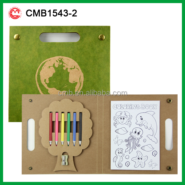Eco custom portable creative wholesale kids novelty gifts drawing pencils set