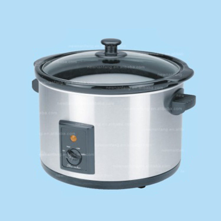 Automatic glass lid stew slow cooker /zhanjiang 5.0qt Round Stainless Steel crock pots and slow cookers