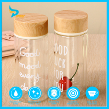 Eco friendly wholesale double wall reusable tea glass drink tea infuser water bottle with bamboo lid