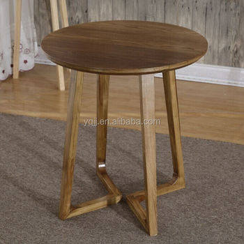 Solid wood round cafe table for sale