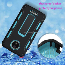 hightly protector T stand case for moto c plus hybrid combo phone back cover for motorola moto C