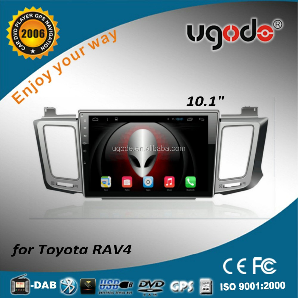 ugode big screen 10.1 inch android 2din car stereo player for toyota RAV4