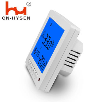 Hysen EU Large LCD Digital Display Room Button Type Thermostat for Underfloor Water Heating System 220V