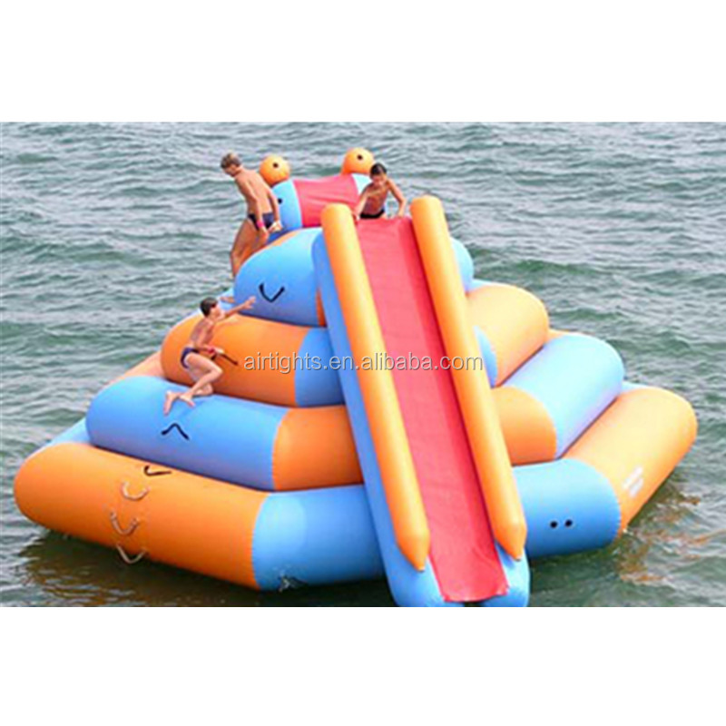 inflatable floating water climbing slide, water sport game from Airtight Company