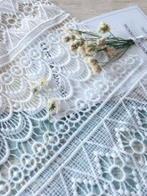 Manufacturer Supplier full white clor water soluble chemical lace dress fabric for garment material