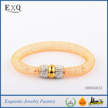 Factory Price Crystal Beads With Net 18K Gold Mesh Bracelet Stardust