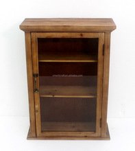 wooden/mdf cabient with door in glass Kitchen Wall Hanging Cabinet