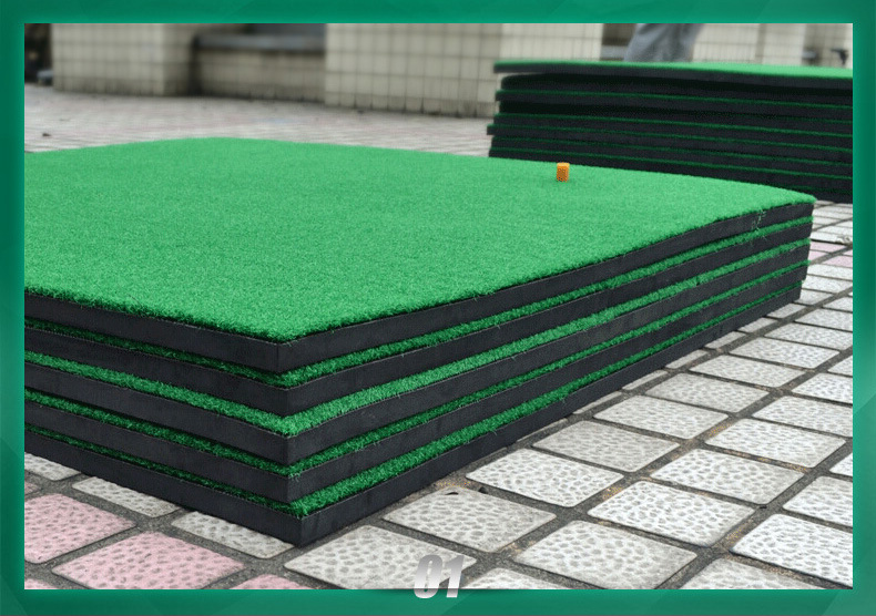Golf driving range practice hitting and stance mat putting mat