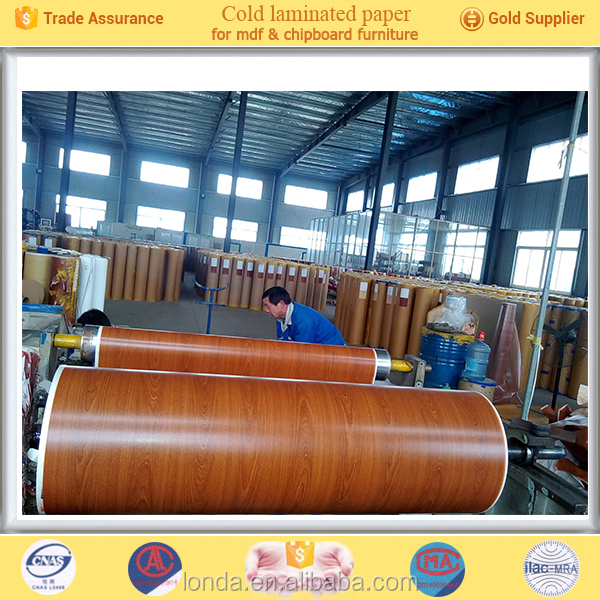 Factory Wholesale Wood grain pu coated papers