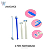 unisoource high quality two heads soft nylon bristle pet toothbrush