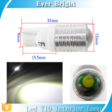 9V-28V T10 w5w 5w with lens nonpolarity led lamp for car reading light interior lights T10 led bulb