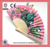 Handcraft silk fabric bamboo fans in different size
