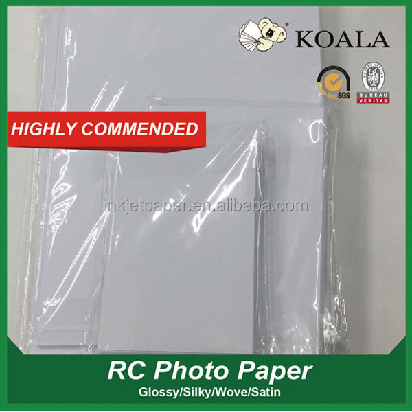 190g/ 240g/260g 3r 4r 5r a4 waterproof inkje resin coated glossy rc photo paper