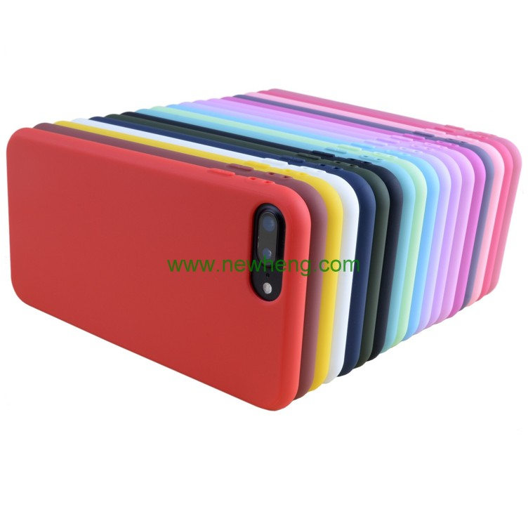 Hot selling candy color matte tpu phone case for iphone 7 7 plus