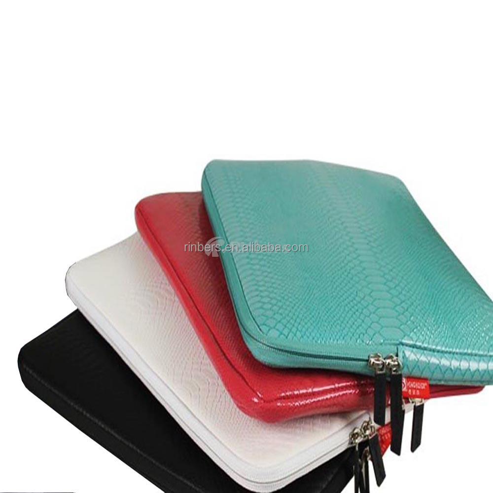 New Leather Sleeve Case Bag Snake Skin Carrying PU Leather Bag for macbook Air Pro Retina 10 12 13 14 15 Inch PU bag