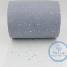 2015 wholesale new sequin 6''x 100 Yards Wholesale Soft Tutu Tulle Fabric Roll