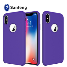 Hot Selling Candy Color and Soft Liquid Silicone mobile phone case for Iphone X
