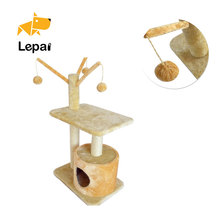 High quality indoor pet furniture cardboard toys cat tree house