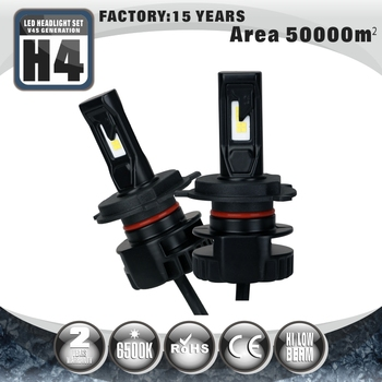 Super Bright 6500K auto systems headlights led lights h4 bulbs