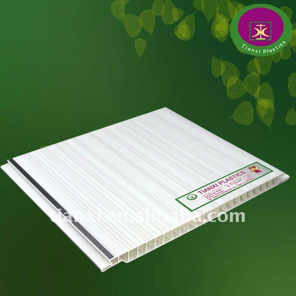 25cm*8mm thickness glossy pvc ceiling & plafond board