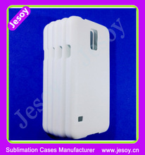 JESOY Wholesale 3D Blank White Sublimation Phone Cases For Samsung Galaxy S5 i9600 Plain Cover
