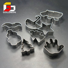 Custom Logo Imprinted Promotional plastic stainless steel cookie cutter with high quality
