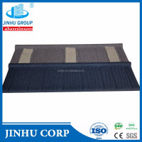 JINHU stone coated galvanized steel roofing shingles/sheets installation