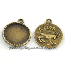 Alloy constellation charms jewelry animal aris