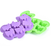 Animal silicone ice cube tray mini rabbit shaped ice maker