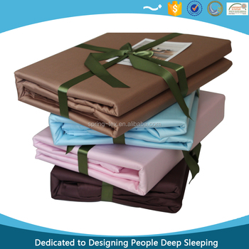 China Super Quality Luxury 60'S Egyptian Cotton Sheet Bed Set in Solid Colors