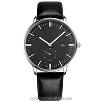 New arrival men watch japan movt watch manual,leather men watch