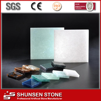 China New Technology Crystall Jade Glass Stone Slab Light Transmitted