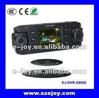 Dual camera wide angle car recorder with G Sensor,car dvr module&X8000