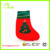 red christmas trees cartoon Christmas sock