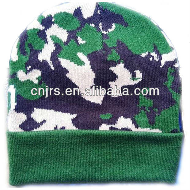 jacquard soft winter camo military hat for men