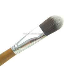 Bamboo handle Foundation Brush Makeup ,Flat face Foundation Brush ,Cosmetic Foundation Brush