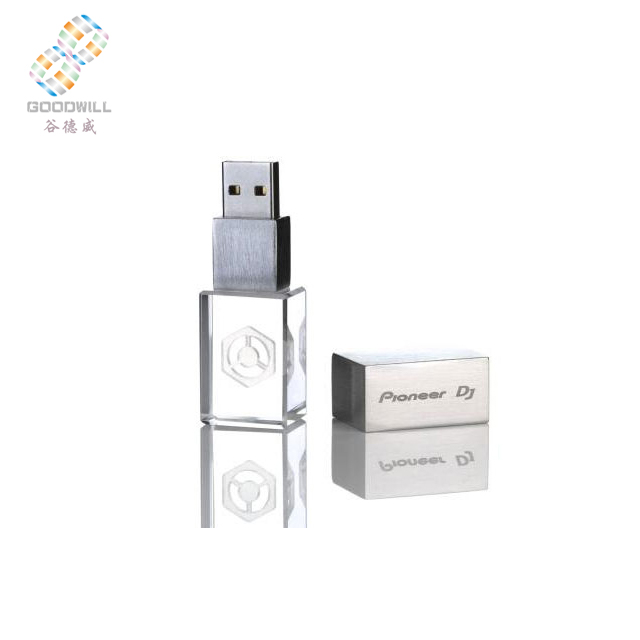 Promotional gift glass usb flash drive,Crystal USB 2.0 128MB to 32GB factory price glass usb memory stick