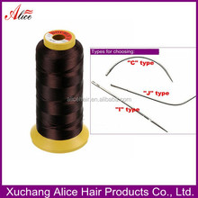 Factory wholesale hair extension tool nylon hair weaving thread 2000m