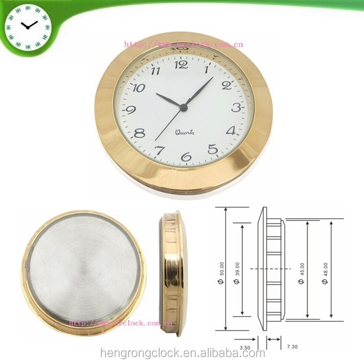 50mm top quality watch insert clock head fit up japan movement