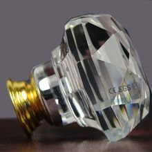 New Times K9 Crystal Diamond Shape Cabinet Knobs Used Pull Handle Doorknob